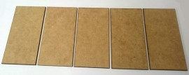 2mm thick MDF 100mm x 50mm bases