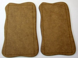2mm MDF Medium 28mm AFV or Vehicle 2 bases 110mm x 65mm