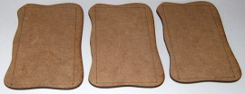 2mm MDF Small 28mm AFV or Vehicle 3 bases 80mm x 60mm