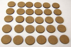 2mm thick MDF 20mm Round bases
