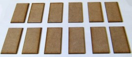2mm thick MDF 60mm by 30mm bases
