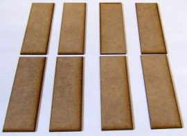 2mm thick MDF 30mm by 90mm bases