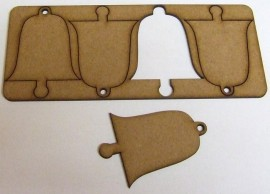 4 Bell Shapes 70mm x 50mm 2.2mm MDF