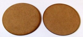 2mm thick MDF 100mm Round bases