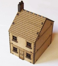 15mm WW2 Terraced House Style 1