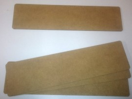"2mm thick MDF plane 8"" by 2"" FOW Obstacles sized bases pack of 4"