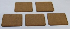 2mm thick MDF Large Size FOW Type Bases 1 pack of 5