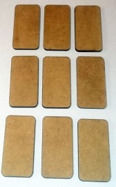 2mm thick MDF Rounded edged 40mm by 20mm bases