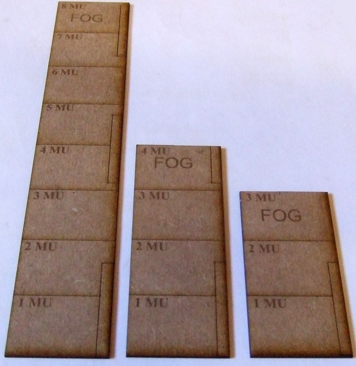 FOG MDF 15mm Scale Movement Ruler's Set