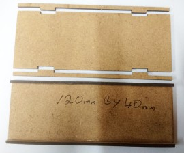 2mm MDF 120mm by 40mm movement trays 15/28mm