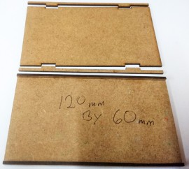 2mm MDF 120mm by 60mm movement trays 15/28mm