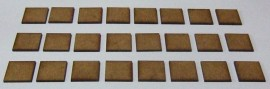 2mm thick MDF 20mm x 20mm bases