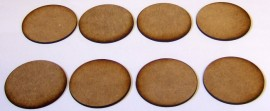 2mm thick MDF 50mm Round bases
