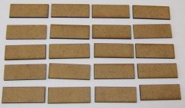 2mm thick MDF 40mm by 15mm bases