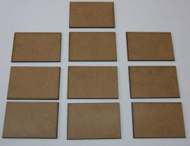 2mm thick MDF 40mm by 60mm bases