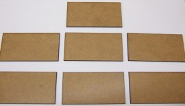 2mm thick MDF 40mm by 80mm bases