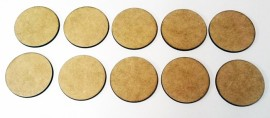 2mm thick MDF 40mm Round bases