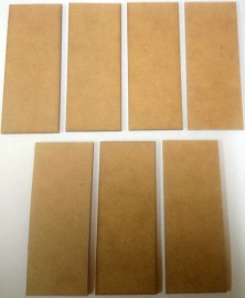2mm thick MDF 40mm by 100mm bases