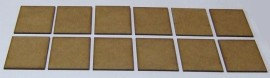 2mm thick MDF 40mm x 50mm bases