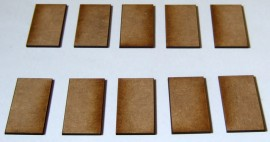 2mm thick MDF 45mm x 25mm bases