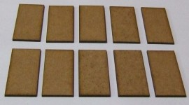 2mm thick MDF 50mm x 25mm bases