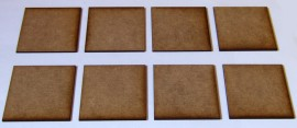 2mm thick MDF 55mm x 55mm bases