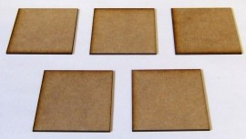 2mm thick MDF 60mm by 60mm bases