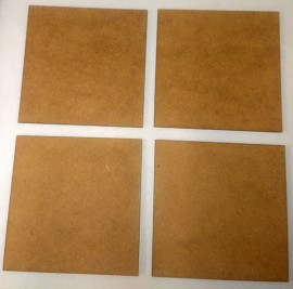 2mm thick MDF 75mm by 75mm bases