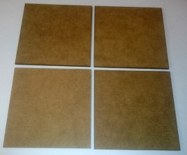 2mm thick MDF 80mm by 80mm bases