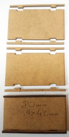 2mm MDF 80mm by 40mm movement trays