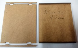 2mm MDF 80mm by 90mm movement trays