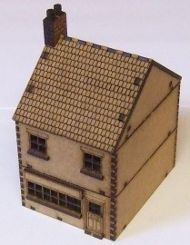 15mm WW2 Terraced Shop Style 1