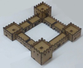 10mm Scale Adobe Fort Set