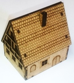 15mm Post WW2-Old German Timber House 02 (Team Yankee)