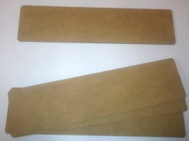 """2mm thick MDF plane 8"""" by 2"""" FOW Obstacles sized bases pack of 4"""