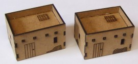 15mm 2 Small Adobe buildings