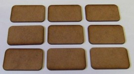 2mm thick MDF Medium Size FOW type Bases 1 pack of 9